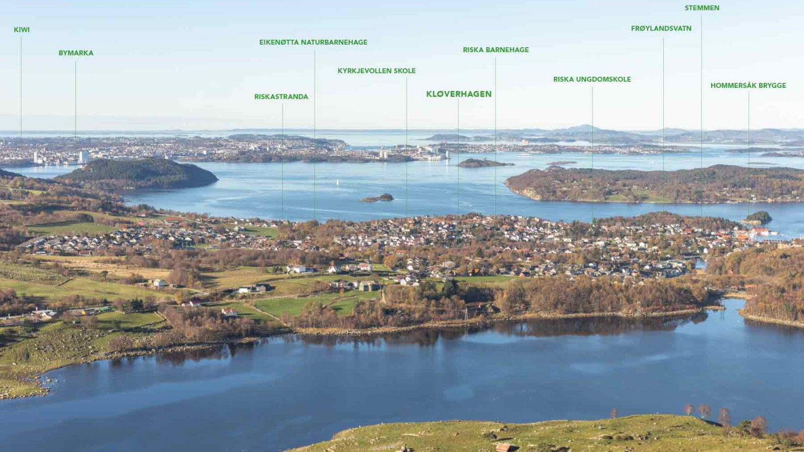 Kløverhagen Hommersåk kart