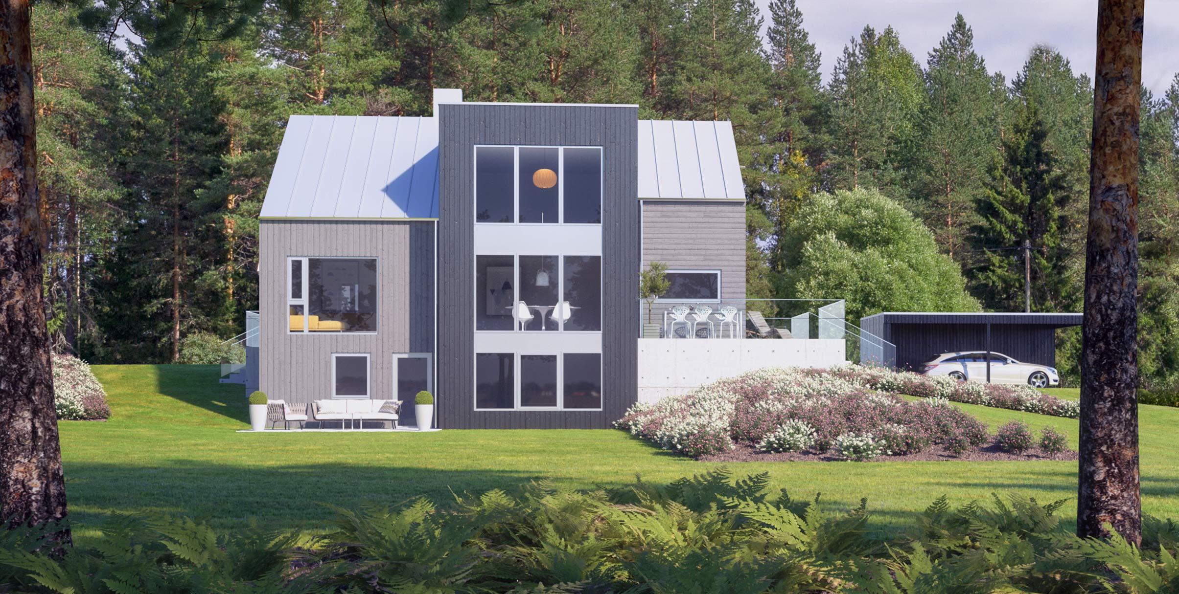 Nytt hus i skogen