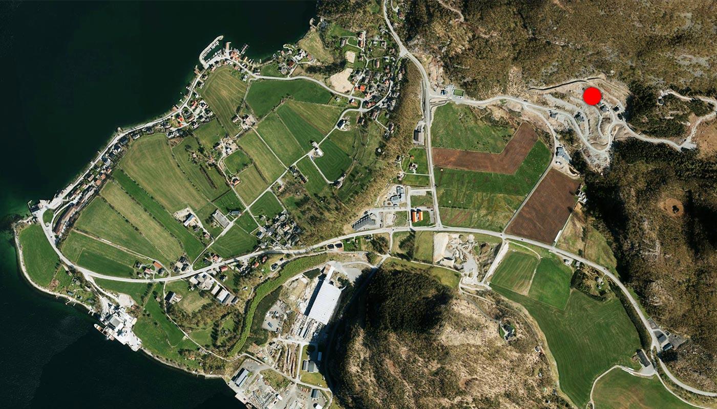 Kart Underberge 8 forsand