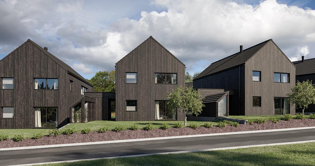 3D bilder av ferdighus fra Fjogstad Hus